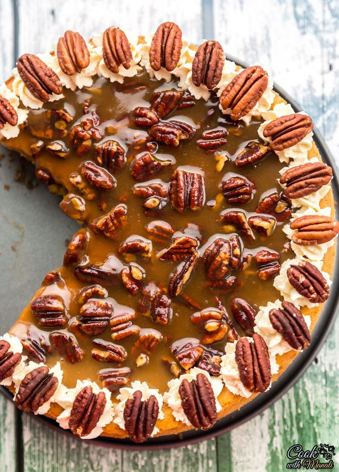 Pumpkin CheesecakeRich, creamy Pumpkin Cheesecake with pecan praline sauce. Best Thanksgiving dessert ever! #cheesecake #pumpkin #dessert