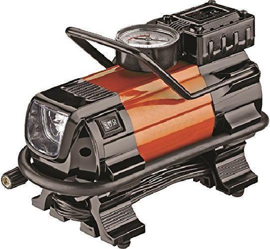 Car Air Compressor Heavy Duty Portable Tire Pump Inflator Auto Led Light 12V