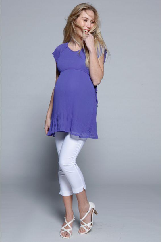 Top grossesse chic - Chemises Grossesse & Allaitement Izabelle http://www.MammaFashion.com/