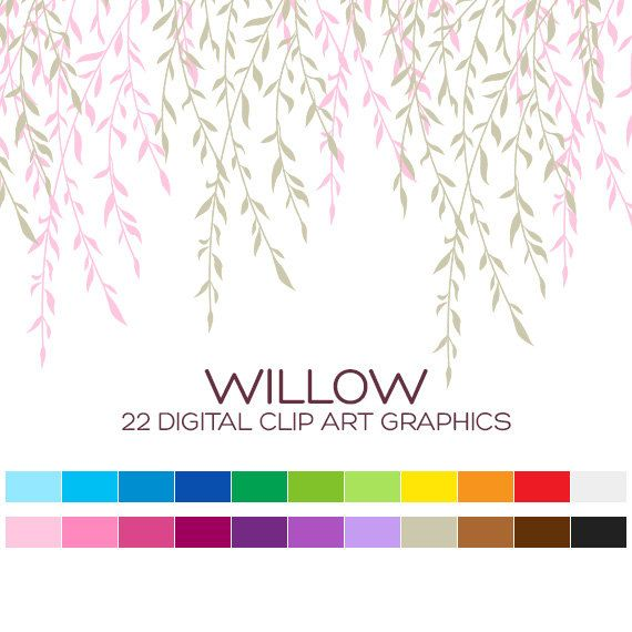 Willow Tree Clipart Tree Branch Clipart Wedding Clipart Floral ...