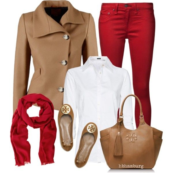 No. 373 - Red pants, created by hbhamburg on Polyvore