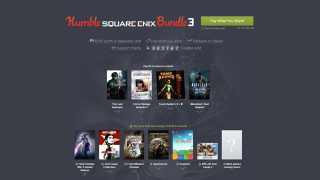 Humble Square Enix Bundle 3 and the Steam Winter sale launch...: Humble Square Enix Bundle 3 and the Steam Winter sale… #HumbleBundle