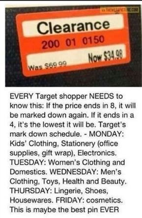 Target clearance price tag~~~I don't know if this is true..but I love target too much to pass it up