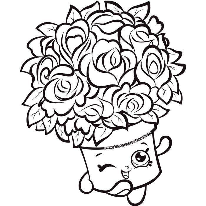 Bouquet Shopkins 7 Colouring Page Shopkins Colouring Pages