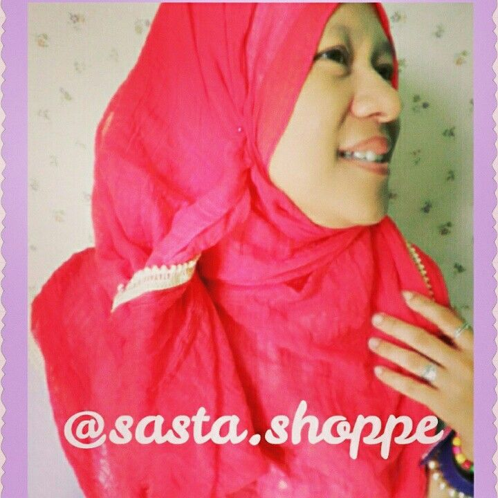 a bright-red pashmina rawis with beige embroidery details. follow our IG @Sasta.Shoppe for further info