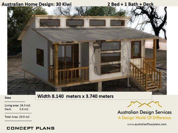 2 Bedroom Granny Flat House Plans For Sale 30 Kiwi 29 9 M2 Concept House Plans For Sale Simple House Plans House Plans Australia House Plans For Sale Flat House Design