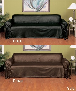 High Quality Leather Couch Slip Cover, Genius!