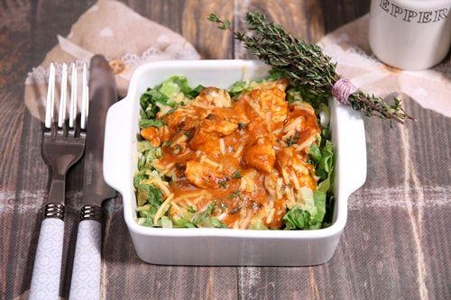 Andijvie schotel met kip, tijm en champignons in romige saus - De keuken van Ursie