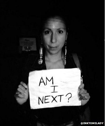 Approximately 1,200 indigenous Canadian women have been murdered or gone missing since 1980. Holly Jarrett began the hashtag #AMINext to put more pressure on the Canadian government to investigate the high murder rate of First Nations women after her cousin, Loretta Saunders was found killed. Read more via BBC.