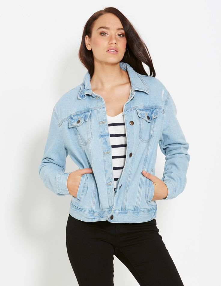 Image for Oversized Vintage Denim Jacket from Dotti