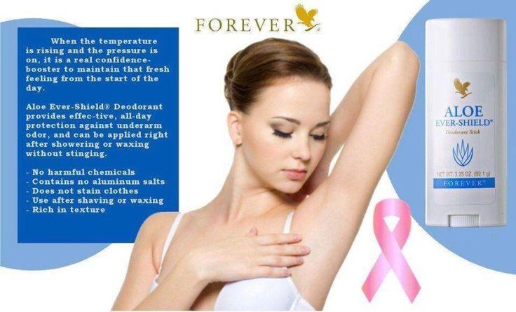 De #Aloe #Ever #Shield #Deodorant #Stick geeft u de hele dag een effectieve bescherming en een fris gevoel.Deze huidvriendelijke en toch krachtige deodorant irriteert de huid niet en laat geen vlekken achter in uw kleding.De formule,gebasseerd op gestabilliseerde aloë vera gel,geeft een rustgevend effect,ook na het scheren of waxen.http://310002023226.fbo.foreverliving.com/