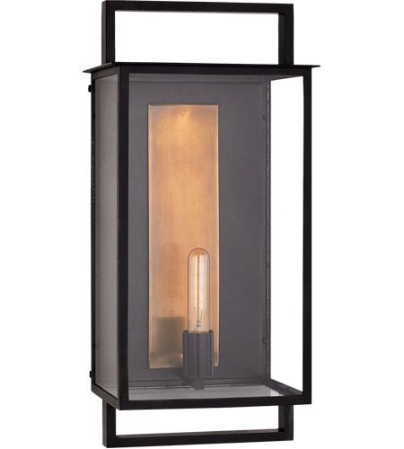 Visual Comfort S2192AI CG Ian K Fowler Halle 1 Light 23 Inch Aged Iron Outdoor Wall Lantern Large
