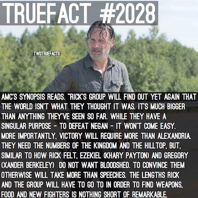 """AMC Synopsis! #TWD #TheWalkingDead #WalkingDead also, just wanted to say Happy Birthday to my dude @TheWalkingDeadAllDay ! We've been IG friends way before this account , even before I even made """"TWDTrueFacts"""" we go waaaay back, we always had eachother's back and he's honestly like a brother to me, wish him a happy birthday!"""