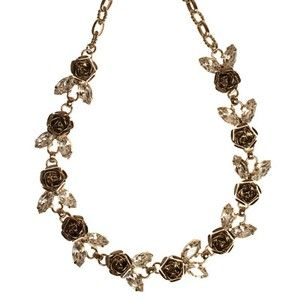 MID LENGTH ROSE NECKLACE - resin, glass, metal, alloy, lead, nickel, ... - Four Corners | Online Boutique Fashion Jewellery