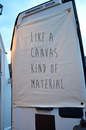 canvas-curtains - ghetto, but easy. dropcloth with blackout fabric behind?