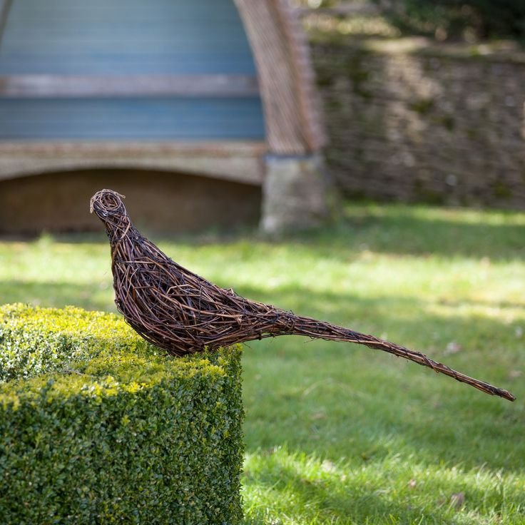 An individual pheasant: £300.00 Bouquet of two pheasants: £600.00 The sculptures are made using British willow that is interwoven and shaped around steel armature by talented artist Emma Stothard, who has been invited by HRH The Prince of Wales to exhibit her willow sculptures on the Orchard Lawns at Highgrove. The contrasting willow colours create form and definition in each animal sculpture. Finally the piece is then coated in a linseed oil and turpentine solution to preserve and protect…