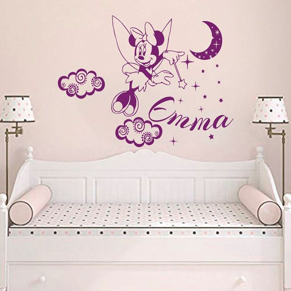 Wall Decals Personalized Name Girl Decal Vinyl Sticker Baby Nursery Bedroom Room Decor Home Interior Design Art Murals MN787