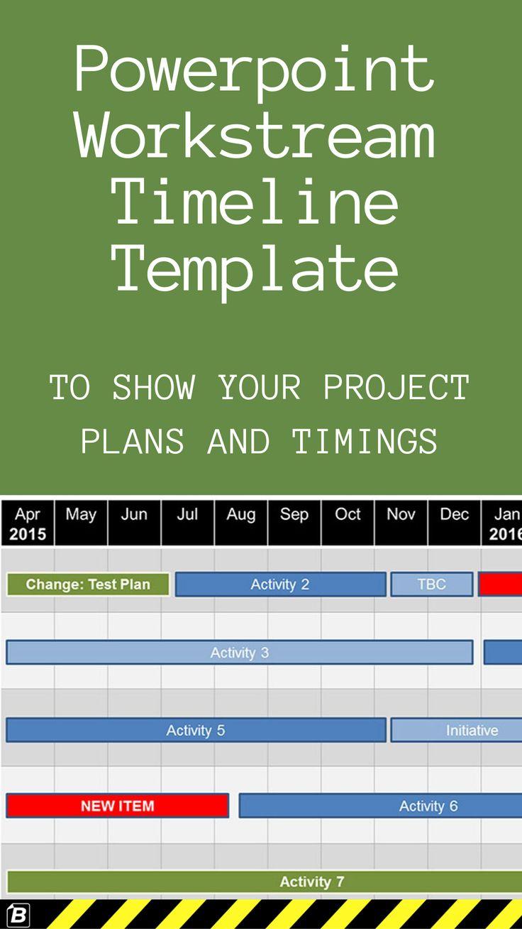 Powerpoint Workstream Timeline Template Powerpoint