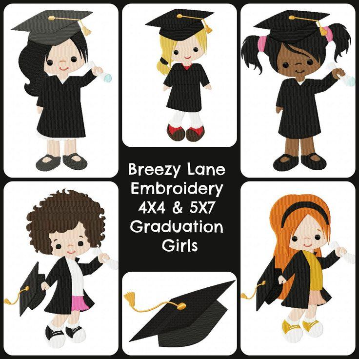 Graduation girls set breezy lane embroidery
