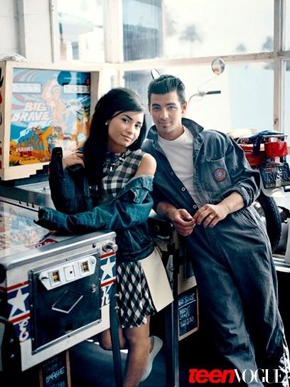 Demi Lovato & Joe Jonas   Teen Vogue