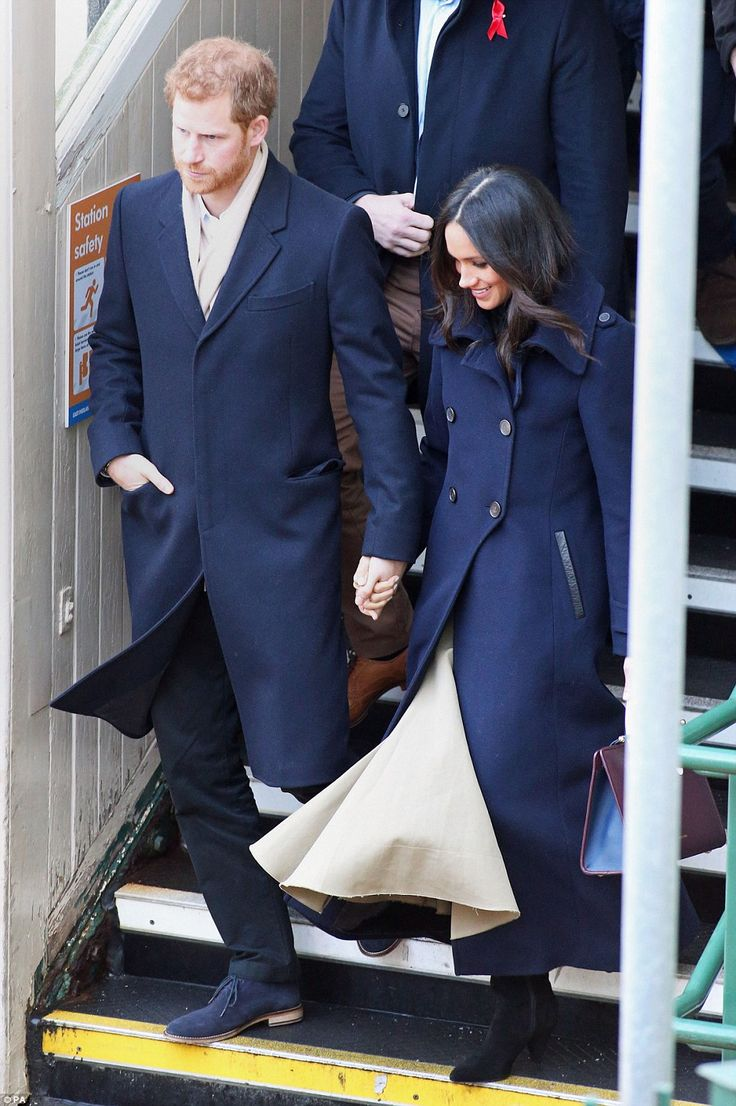 Harry and Miss Markle arrive at Nottingham train station this morning ahead of their firs...