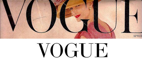 Vogue - Didot, Bodoni (similar)