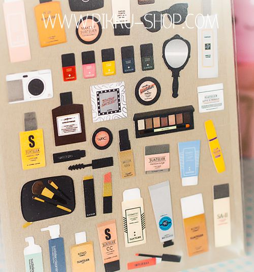 Makeup stickers from Pikku Shop | www.pikku-shop.com