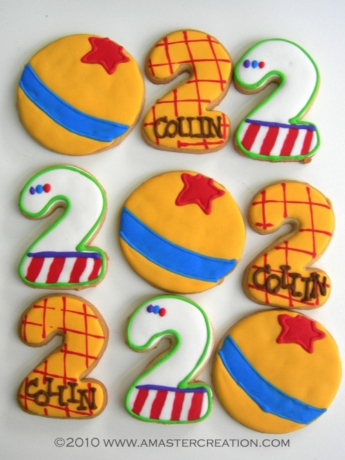 Toy Story cookies  Cute idea for a little boy birthday party~Christa Hailey! :)