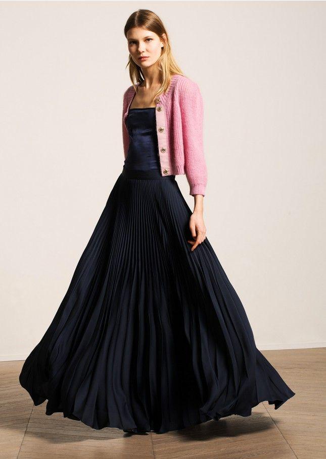 les 25 meilleures id es concernant jupe longue plissee sur pinterest jupe pliss e jupe. Black Bedroom Furniture Sets. Home Design Ideas