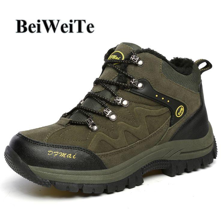 Men Shoes Unisex Warm Inner Hikking Boots Oversized