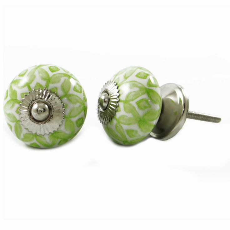 Set of 2 Beautiful ceramic Knobs ..this is img