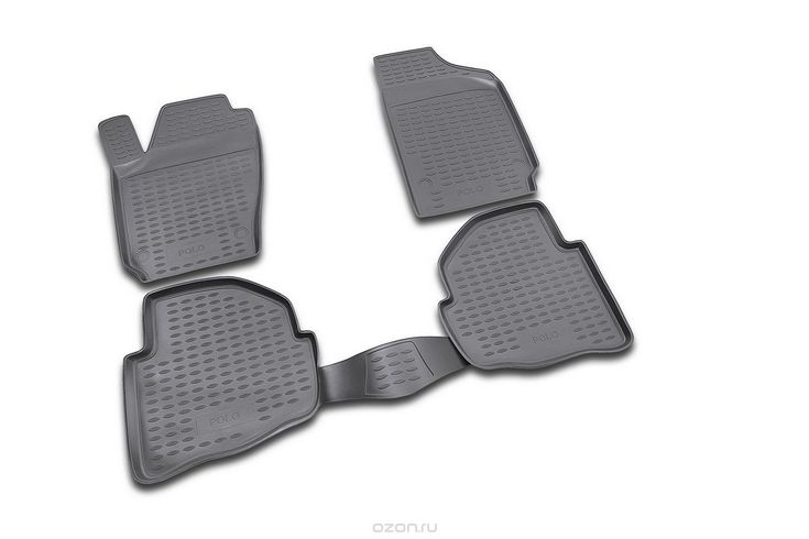 """Набор автомобильных ковриков """"Novline-Autofamily"""" для Volkswagen Polo 02/2002-2009, в салон, 4 шт"""