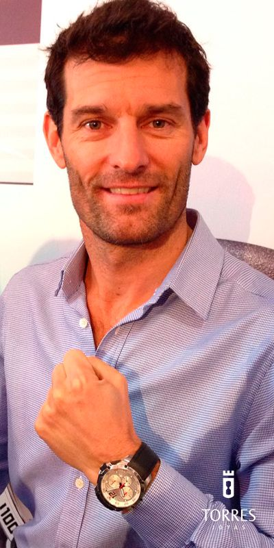 El piloto australiano de Fórmula 1 Mark Webber, es el embajador de la emblemática marca de relojes suizos Chopard.