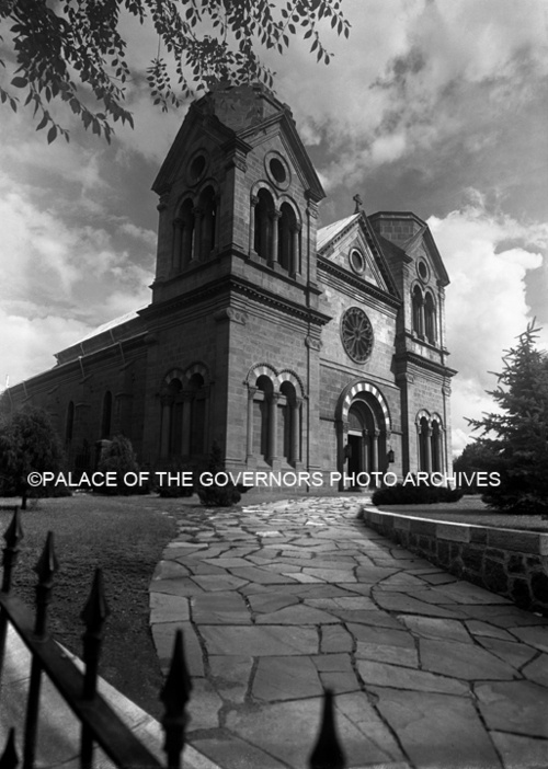 Saint Francis Cathedral, Santa Fe, New Mexico  Photo By: Tyler Dingee  Negative #051310