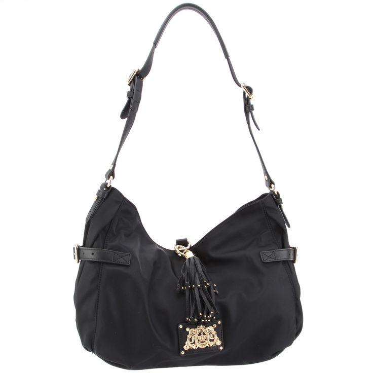 Juicy Couture Karena Weekend Warriors Hobo Handbag-Black