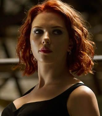 Loved Scarlett Johansson / Black Widow's hair in Avengers! Makes me want to go red.