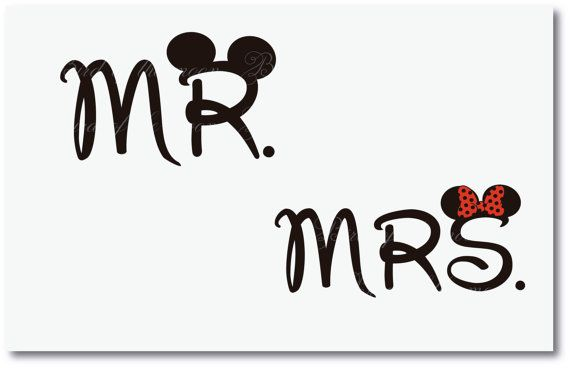 Mickey and Minnie  mr. mrs. Mouse DIY you print Printable Iron Transfer Disney Princess Wedding Bride Groom Vacation Disney Instant Download on Etsy, $5.00