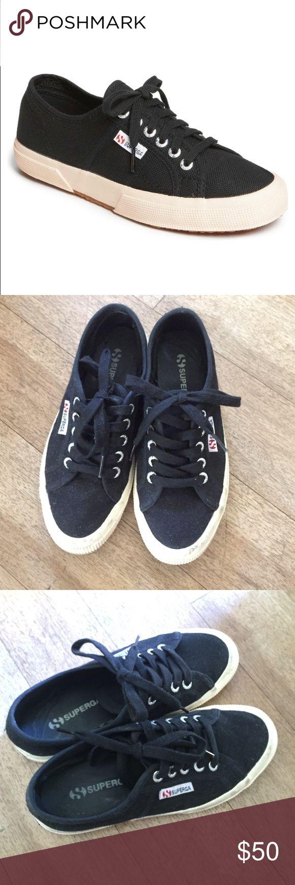 Superga black sneaker Superga black sneaker size 35 us size 5 (superga runs 1/2 size bigger) Superga Shoes Sneakers