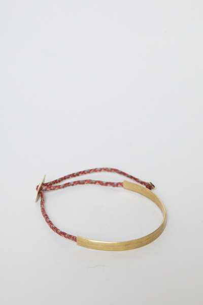 Totokaelo - Robert Geller - Womens Brass Cuff & Large Square Button - Rust/Taupe