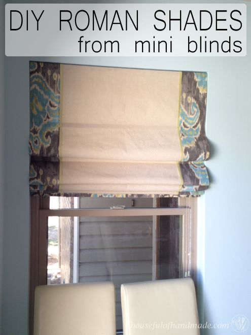 Diy Roman Shades From Mini Blinds Part 1 Mini Blinds