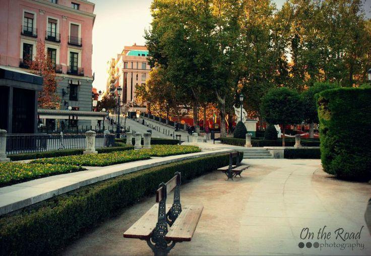 A quiet corner in Plaza del Oriente in Madrid.