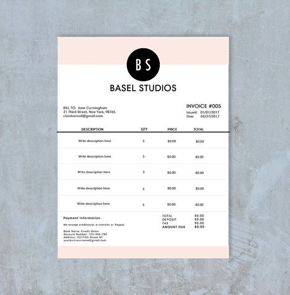 Invoice Template Billing Template Photography Invoice Receipt Template Psd File Photography Invoice Photography Invoice Template Invoice Design