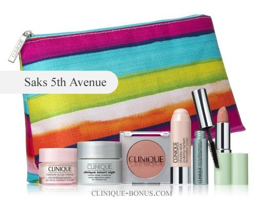 Clinique GWP at Saks.com. Use coupon code CLINIQ73. http://clinique-bonus.com/other-us-stores/ You can also use another 3 codes to get even more (freebies, free shipping)