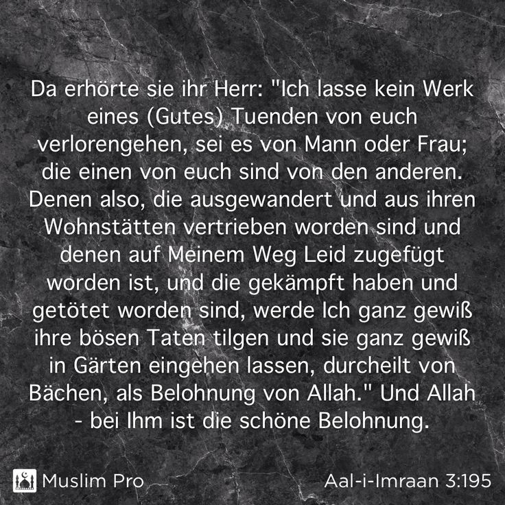 Zitat aus dem Heiligen Koran, Aal-i-Imraan (3:195) #muslimpro http://www.muslimpro.com/invite/QB3EPR
