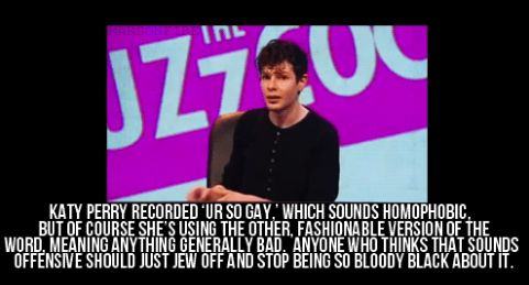 "He put anyone and everyone back in their place. From Katy Perry… | 24 Perfect Simon Amstell Comebacks From ""Never Mind The Buzzcocks"""