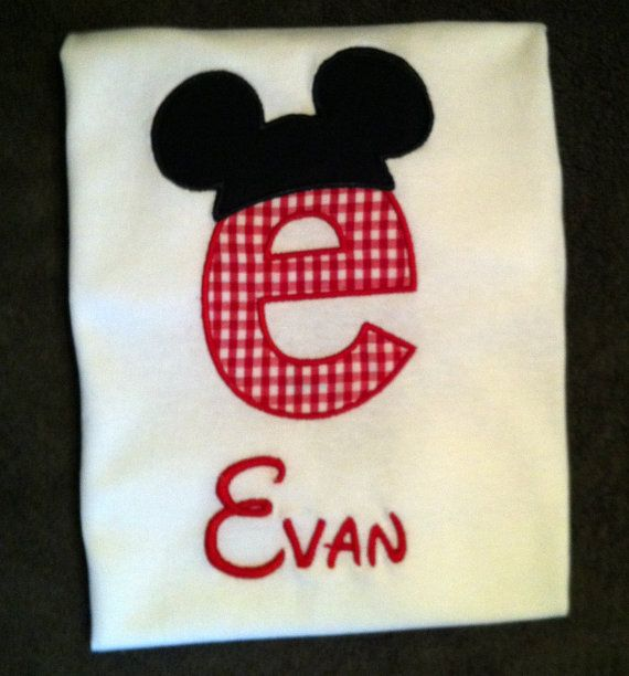 Initial With Mickey Ears Disney Shirts Bags