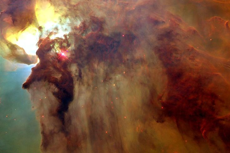 In the Center of the Lagoon Nebula (M8), see this picture labelled at http://imgsrc.hubblesite.org/hu/db/1996/38/images/c/formats/large_web.jpg (credit: A. Caulet (ST-ECF, ESA), NASA)