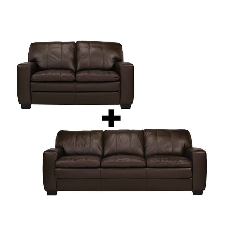 Camden Leather Sofa Package from Domayne Online