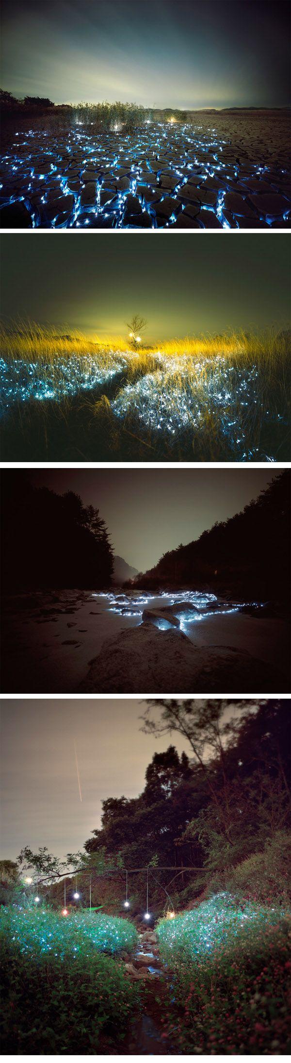Starry Night by Lee Eunyeol: 600 2 185 Pixels, Eunyeol Jessie, Installations Light, Starry Night, Pictures Places, Art, Lee Eunyeol Repin, Faeries Creep, Eunyeol Repin By Pinterest