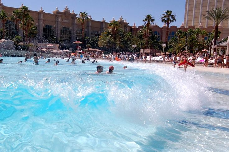Wave Pool Wave  --  Free and only open to hotel guess, 8am to 7pm, daily, as of April 2015: